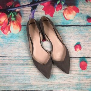 Marc Fisher Gray Suede Amra Flats